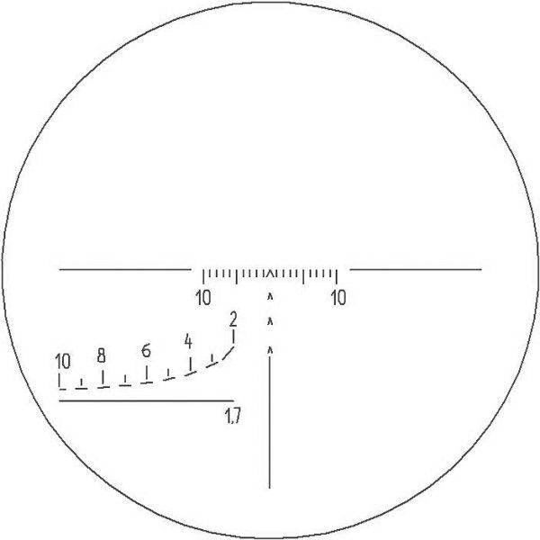 Absehen Nr.X (1,7m) (Schematisch)