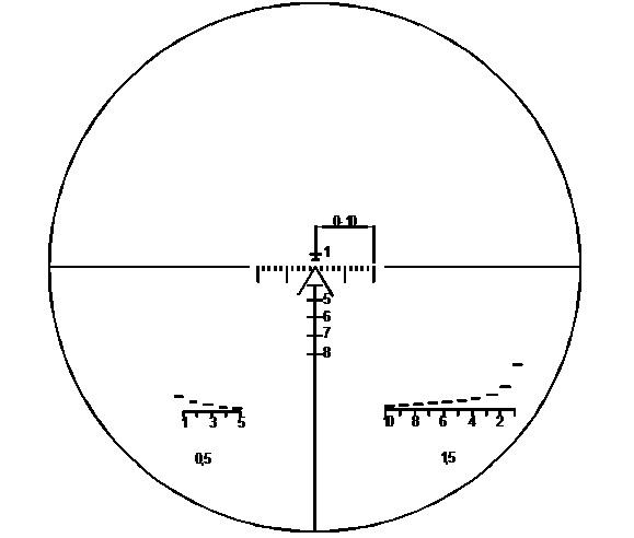 Absehen des BelOMO PO 3,5x21P (AK-74) (Schematisch)