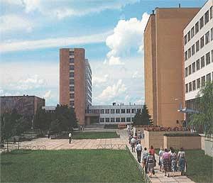 """Campus des """"Rogachev Plant """"Diaproektor"""", Herstellungsort der optischen Geräte der Marke """"DiaR"""""""